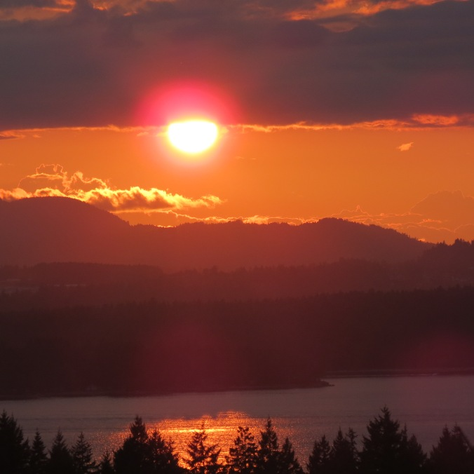 Sunset over Vancouver Island from Gabriola
