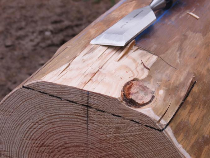 Chiselling a post contact surface