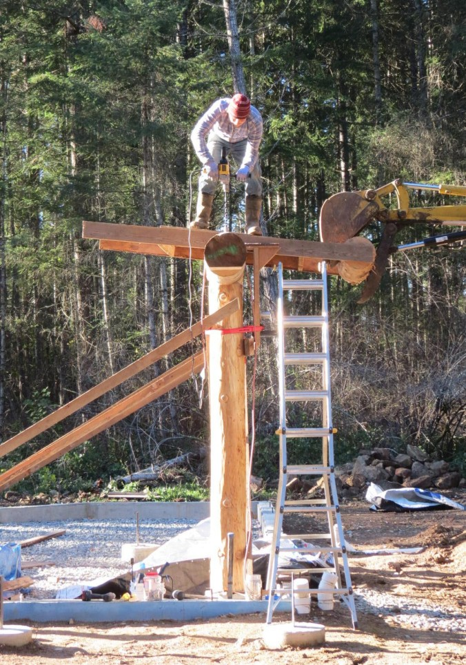 Drilling the first beam