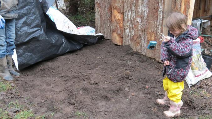 Karen also prepared Mia's personal garden!